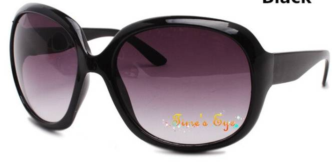 Black Large Lens Retro Sunglasses