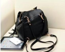 \black messenger style handbag
