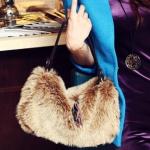 Faux fur handbag / shoulder bag
