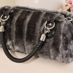 Faux fur handbag/ shoulder bag