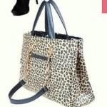Leopard print and sequin handbag / shoulder bag, backview