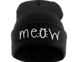 Meow hat - black