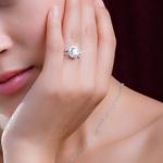Cunic zirconia ring on model