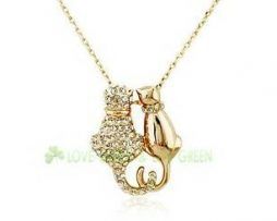 Cat Neckalce Pendant- Gold