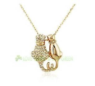 Cat Neckalce Pendant- Gold