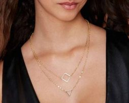 double-chain-necklace-geometric