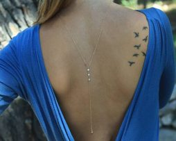 Sexy back necklace with dangle