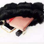 Faux fur clutch purse, black