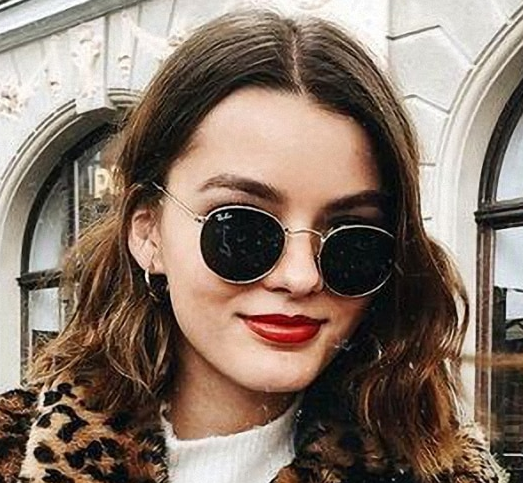 Gold Wire frame oval sunglasses